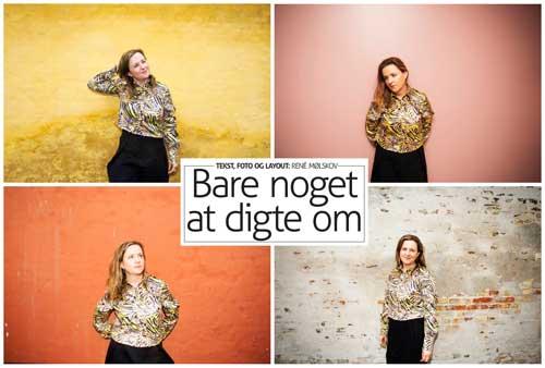 Anne Zenon på forsiden af Vesterbro Bladet - foto Réne Mølskov